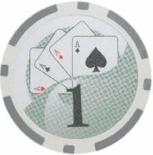 5 pc 5 colors 7.5 gram CHORUS SHOW GIRL poker chip samples set #248
